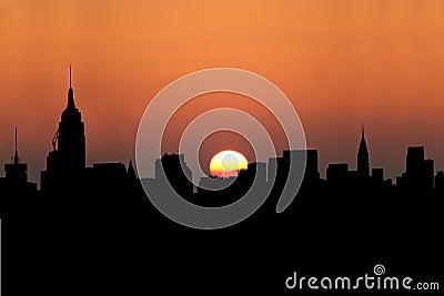 Midtown Manhattan at sunset