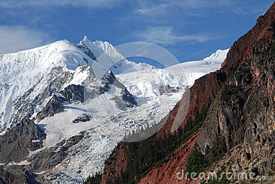 Midui glacier in Tibet
