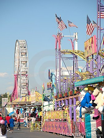 The midway at the County Fair Editorial Photo