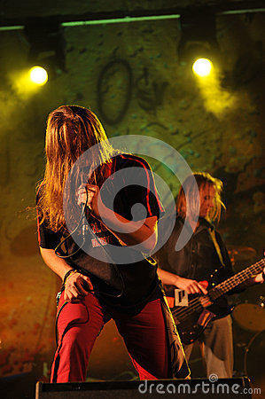 Midway on stage at Rockfest Siedlce Editorial Image