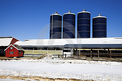 Midwest Farm in winter