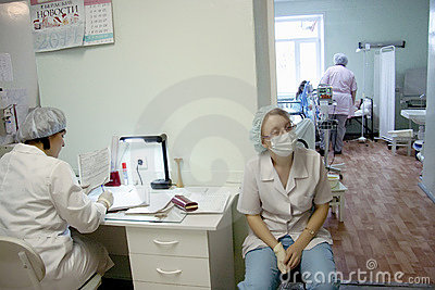 Midwife and a nurse at maternity hospital Editorial Stock Photo