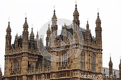 Mieści London pałac parlamentu Westminster