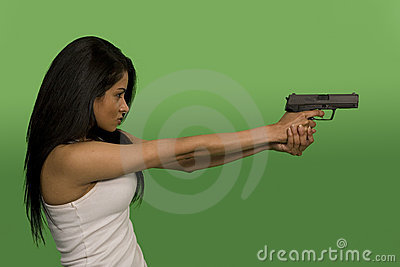 Mienie armatnia kobieta