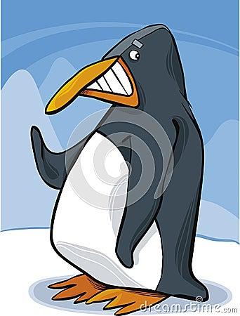 śmieszny pingwin