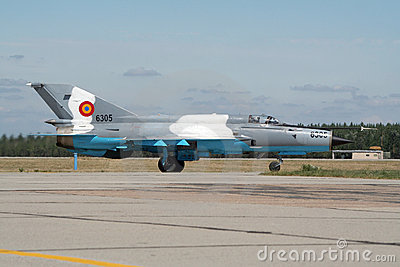 MiG-21 jet fighter Editorial Stock Photo