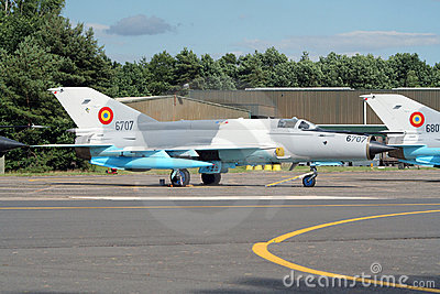MiG-21 military fighter jet Editorial Stock Image