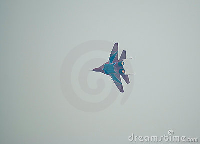 MiG-29 in flight Editorial Photo