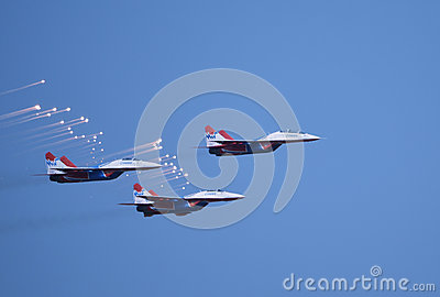 MIG-29 The Strizhi Editorial Stock Image