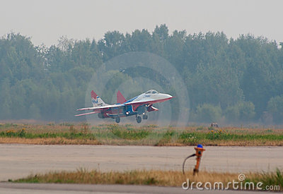 MiG-29 taking off Editorial Stock Photo