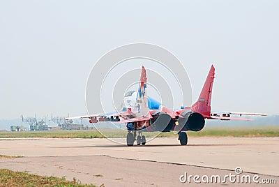 MiG-29 taxiing Editorial Image