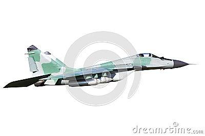 Mig-29 on white