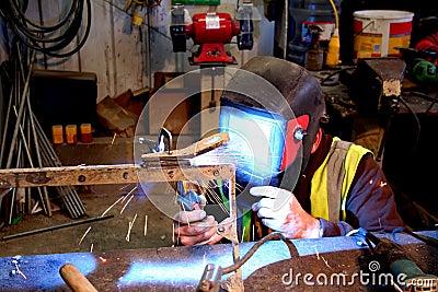 Mig welding closer.