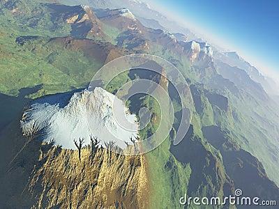 Mighty snowy summit