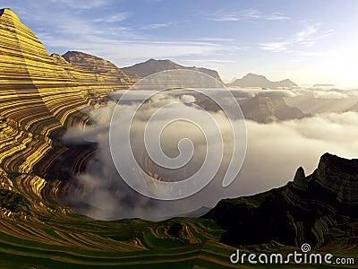 Mighty stratified landscape