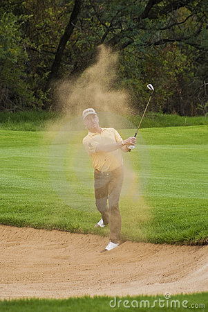Miguel Angel Jimenez - Bunker Shot - NGC2010 Editorial Stock Photo