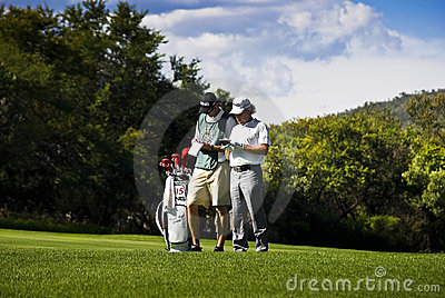 Miguel Angel Jimenez & Caddy - NGC2010 Editorial Photography