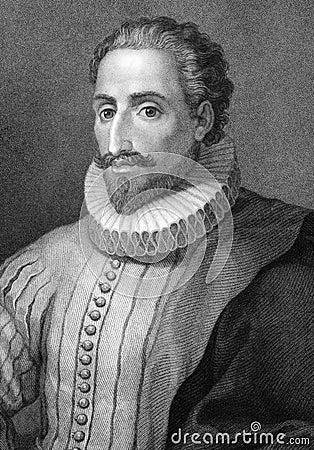 Miguel de Cervantes Editorial Stock Image