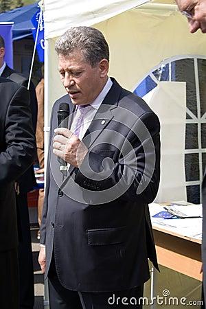 Mihai Ghimpu, Acting President of Republic Moldova Editorial Image