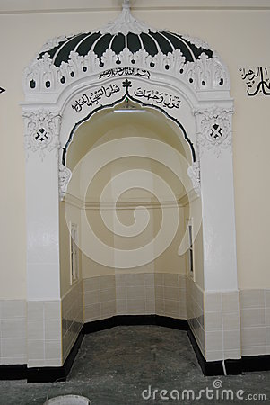 Mihrab qibla in a mosque Editorial Photo