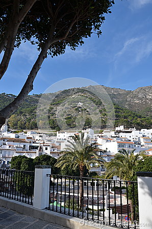Mijas Spain hillside view