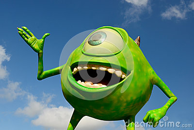 Disney Mike from Monsters inc.  incorporated Editorial Image