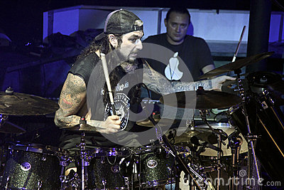 Mike Portnoy, Billy Sheehan, Tony MacAlpine and Derek Sherinian in Concert Editorial Image