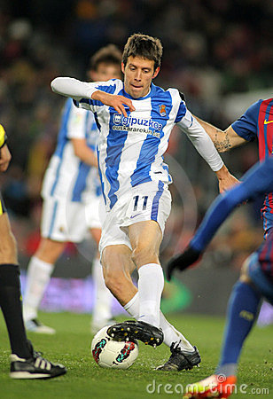 Mikel Aramburu of Real Sociedad Editorial Stock Image