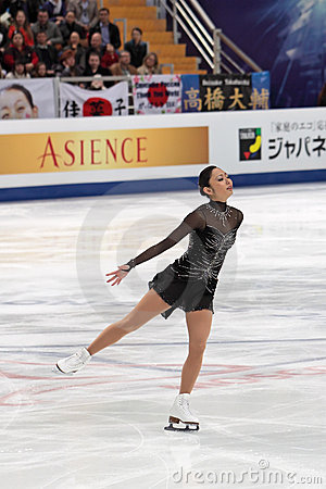 Miki Ando, Japanese figure skater Editorial Stock Image