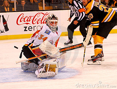 Mikka Kiprusoff Calgary Flames Editorial Image