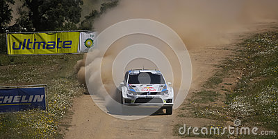 A. Mikkelsen in Rally de Portugal 2013 Editorial Stock Photo