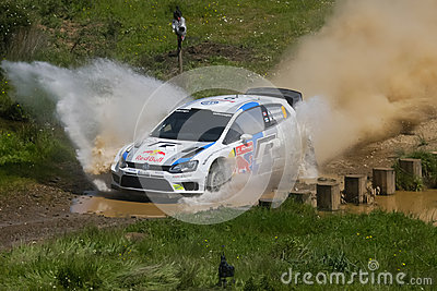 A. Mikkelsen in Rally de Portugal 2013 Editorial Photography