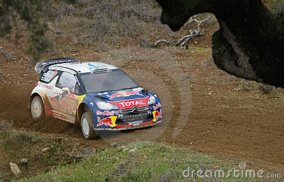 Miko Hirvonen Citroen DS3 WRC Editorial Photo