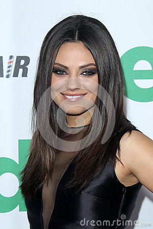 Mila Kunis arrives at the  Editorial Photography