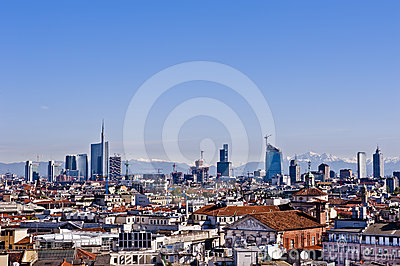 Milan 2012: New Skyline Stock Photo - Image: 24458380