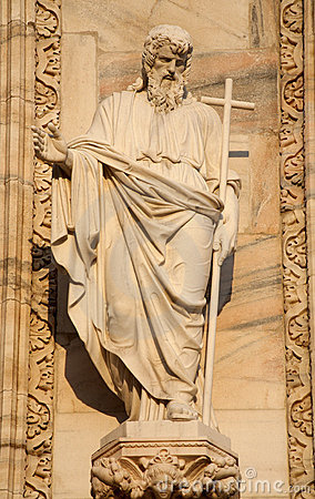 Milan - apostle Andrew statue from Dom facade