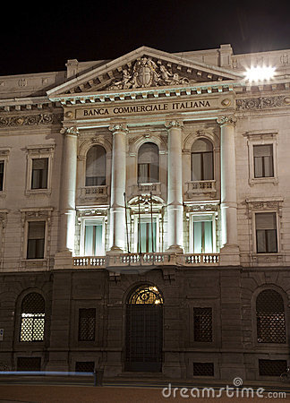 Milan - bank facade