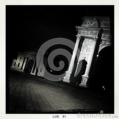 Free Milan By Night - Mobile Stock Photos - 27823643