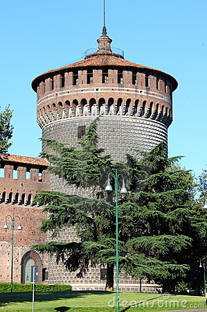 Milan castle tower