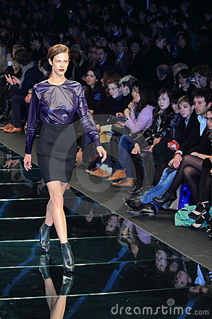Milan catwalk fashion colinne michaelis Editorial Photo