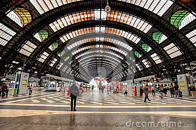 Milan Central Station. Editorial Photography