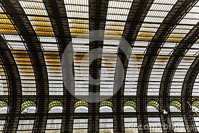 Milan, central station train Editorial Photography