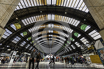 Milan, central station train Editorial Image