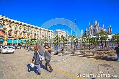Milan Dome palms Editorial Image
