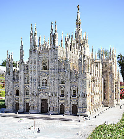 Milan Duomo Cathedral miniature in Mini Park