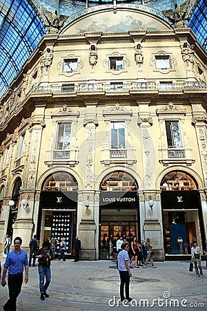 Milan Galleria Editorial Stock Image