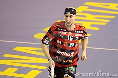 Milan Garcar - floorball player Editorial Stock Photo
