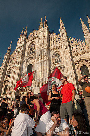 Milan - Giuliano Pisapia new mayor Editorial Image