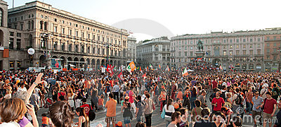 Milan - Giuliano Pisapia new mayor Editorial Stock Image