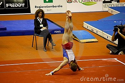 Milan Gymnastic Grand Prix 2008 Editorial Image